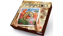 Годиник Decoupage Clock ДКС-01-04 Маки (з рамкою) ДТ(1/10)