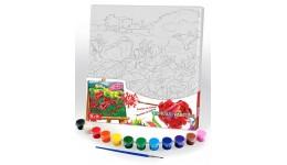 Розпис на полотні: 31*31см РХ-05-10  Canvas Painting  з фарбами Д/Т(1/10)