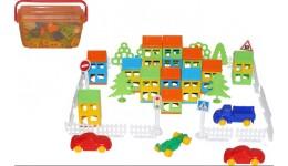 Конструктор  Побудуй своє місто  (162 елементів ) (в контейнері)  35*21 5*19см ТМ POLESIE