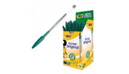 Ручка кулькова BIC 8373629 зелена  Cristal  1мм (50)