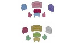 Меблі для ляльок №2 (7 елементів у пакеті) 21 5*19 5*9см  ТМ POLESIE