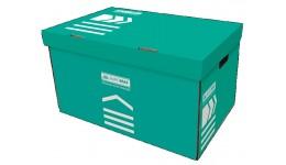 Короб д/архівних боксів BUROMAX 3270-06 картон. 580х390х265мм БІРЮЗОВИЙ (1)