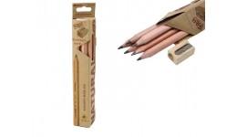 Олівці MARCO 6050-6СВ графітові  НВ тригранні (6шт) кедр  Natural  Джамбо з чинкою (1/144)