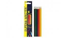 Олівці кольорові  MARCO  6 кол 4100 - 6СВ  Superb Writer  шестигранні (1/24/480)