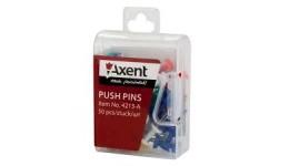 Кнопки AXENT 4213 цвяшки кольорові 50шт в пластик. контейнері (1/12)