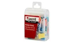 Кнопки AXENT 4215 цвяшки-прапорці 30шт в пластик. контейнері (1/10)