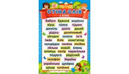 Плакат 0115-1 Стіна слів.1 клас (у) (48)