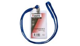 Бейдж AXENT 4506 вертикальний на шнурку прозорий 55*85мм (12/120)