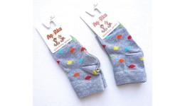 Шкарпетки дитячі р.10 колір меланж СІРИЙ - 75% бавовна  23% поліамід  2% еластан