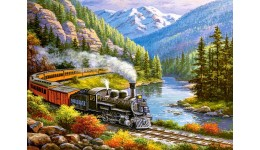 Пазл Касторленд  300 (293) Потяг у горах  40*29 см
