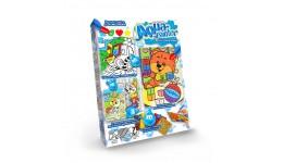 Водяна розмальовка AQUA Painter 06 Ведмедик з іграми (4 картинки+блискуча мозаїка) (у) (18) ДТ