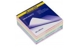 Блок паперу BUROMAX 2254 д/нотаток  Зебра  склеєний 80*80*20мм (1/120)
