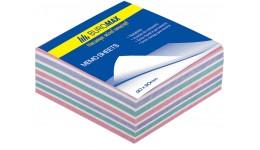 Блок паперу BUROMAX 2257 д/нотаток  Зебра  не склеєний 90*90*30мм (1/108)
