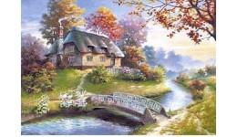 Пазл Касторленд 1500 (0359) Будиночок біля річки  68*47 см