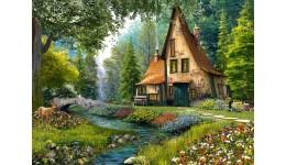 Пазл Касторленд 2000(634) Котедж у лісі  92*68 см