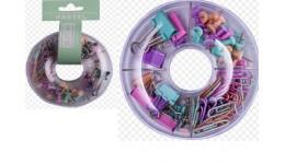 Набір канцел. приладдя BUROMAX 5701 Donut PASTEL (1) рожевий  круглий