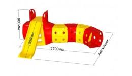 Гірка з тунелем 01470/2 (в коробці) DOLONI-TOYS висота 980мм довжина спуска 1300мм шир. 1800мм