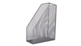 Лоток для паперів BUROMAX 6260-24 метал. вертикальний 80*230*300мм СРІБЛО (1)