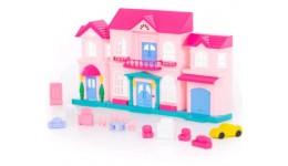 Ляльковий будинок Софія  з меблями і автомобілем (14 ел.) ( у пакеті) 27x20x29см ТМ POLESIE
