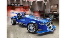 Пазл Касторленд 180(406) Синій автомобіль  32*23 см