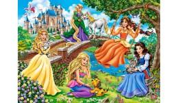 Пазл Касторленд 180(383) Принцеси в саду  32*23 см