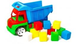 Алєкс грузовик з маленькими кубіками 12шт БАМСІК 40*24*24 см