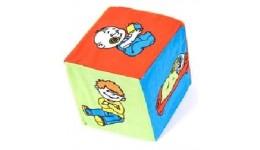 Кубик тканина брязкальце  Діти -дії   ТМ Розумна іграшка