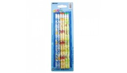 Олівці MARCO 1000ЕВ - 6BL графітові з гумкою  НВ круглі  набір 6шт  блістер (1/288)