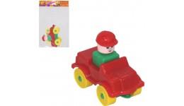 Конструктор  Юний мандрівник  - Автомобіль легковий (9 елементів) (в пакеті) ТМ POLESIE