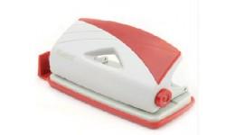 Діркопробивач AXENT 3710-06 пластик 10арк. сіро-червоний Duoton (1/12)