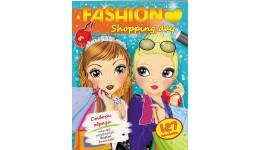 Fashion А4: День шопінгу (127 наліпок) створи образи  наклей  домалюй  виріж розмалюй (у) П