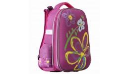 Портфель шкільний каркасний CLASS 9818 2відділ.  Flowers  39*28*21см (1/4)