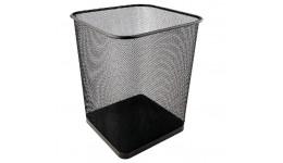 Корзина д/паперів AXENT 2124-01 металева  квадратна 270*300мм ЧОРНА (1)