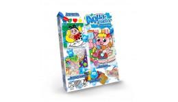 Водяна розмальовка AQUA Painter 02 Кошеня та телефон (4 картинки+блискуча мозаїка) (у) (18) ДТ