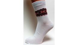 Дитячі шкарпетки DUNA 460 демі  12-14 червона вишивка 52% поліамід 45% еластан 3%