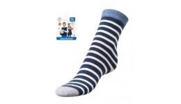 Дитячі шкарпетки для хлопчиків р.23-25 полоска - 80%бав.18%ПА.2%еластан.
