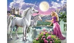 Пазл Касторленд  120 (13098) Принцеса і єдиноріг  32*23 см
