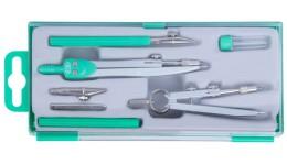 Готовальня ZiBi  7 предметів 5306-04 BASIS  зелена (1/10)