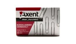 Скріпки AXENT 4102 нікельовані 50мм 100шт (1)