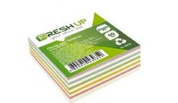 Блок паперу Fresh Up FR-2412 для нотаток мікс клеєний 80х80х40мм (1/24/2304)