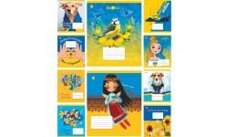 Зошит 12 клітинка  Disney 12353 МІКС УФ-лак ТЕТРАДА (25/250)
