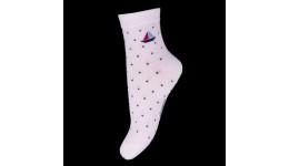 Дитячі шкарпетки DUNA 416 демі  20-22 білі 75%бамбук  23%поліамід  2%еластан