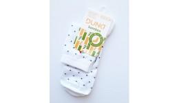 Дитячі шкарпетки DUNA 416 демі  22-24 білі 75%бамбук  23%поліамід  2%еластан