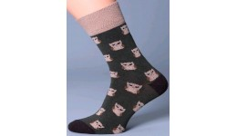 Шкарпетки чоловічі 39-42 calzino-brown MSL-013 - 65% бавовна  33% поліамід  2% еластан