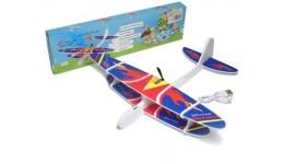 Літак пінопласт. планер з мотором і зарядкою від USB б/н