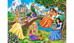 Пазл Касторленд  70 (022) Принцеси в саду  40*29 см