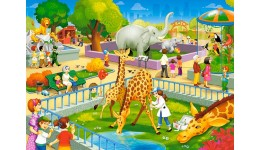 Пазл Касторленд 60(6155) Зоопарк  32*23 см