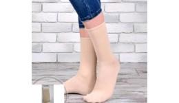 Шкарпетки жіночі DUNA 317  21-23 сіро-бежеві (Євроколекція) 80%бавовна 18%поліамід  2%еластан
