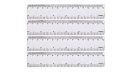 Лінійка  15 см 8815 пластикова  прозора (25/100)