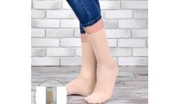 Шкарпетки жіночі DUNA 317  23-25 сіро-бежеві 80%бавовна  18%поліамід  2%еластан